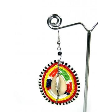 Náušnice Masai s mušlí
