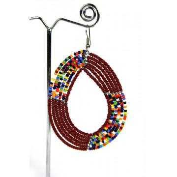 Náušnice Masai ovál - velký