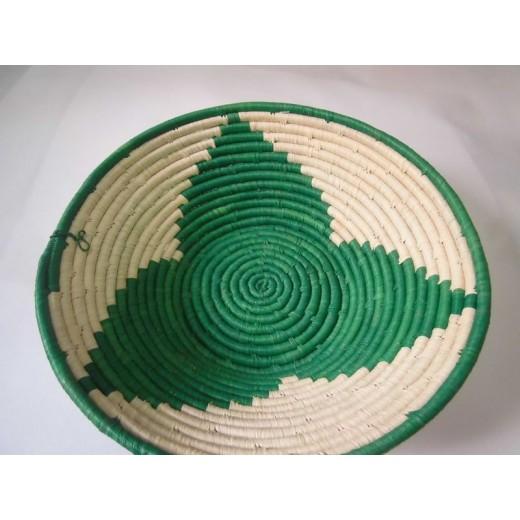 Ručně pletená ošatka - košík z listů banánovníků