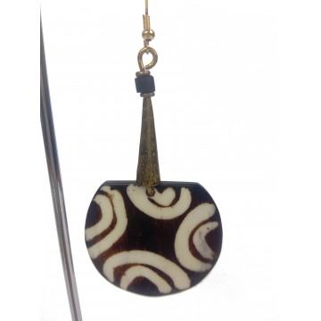 Náušnice s bronzovým nástavcem