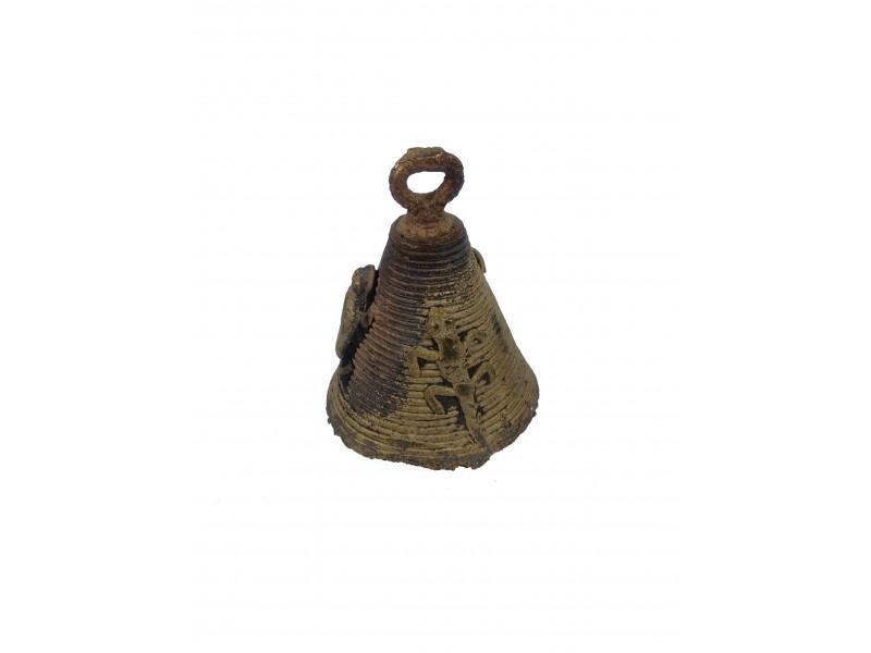 Zvoneček dogongský - bronz, cca šířka 5x výška 6-7cm.