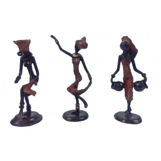 Soška bronzová – africká žena