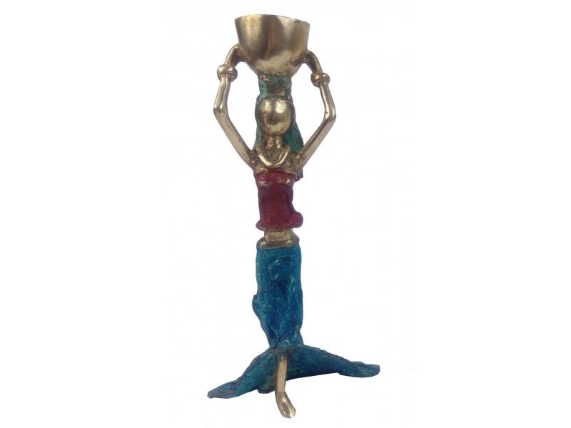 Soška bronzová – africká žena, jemný obrys