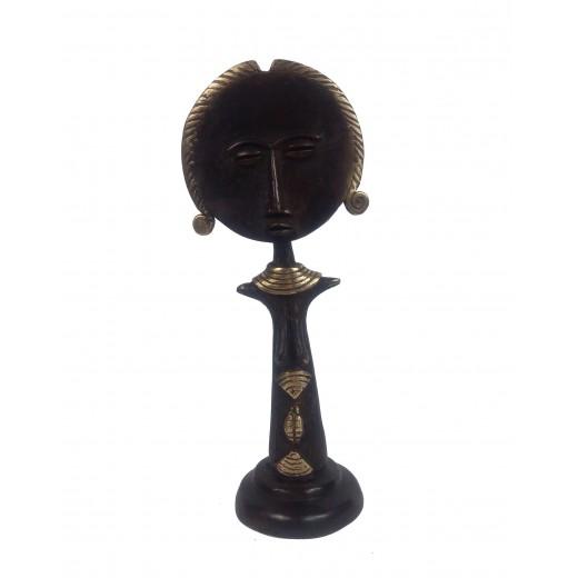 Soška bronzová - Panenka Ashanti / Akuaba / ženská, Burkina Faso