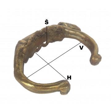 Náramek dogongský - bronz, Mali