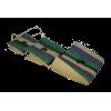 Košík závěsný – 3dílný/kapsa, materiál: vlákno rafie, ozdoba – kokosové dřevo, Madagaskar