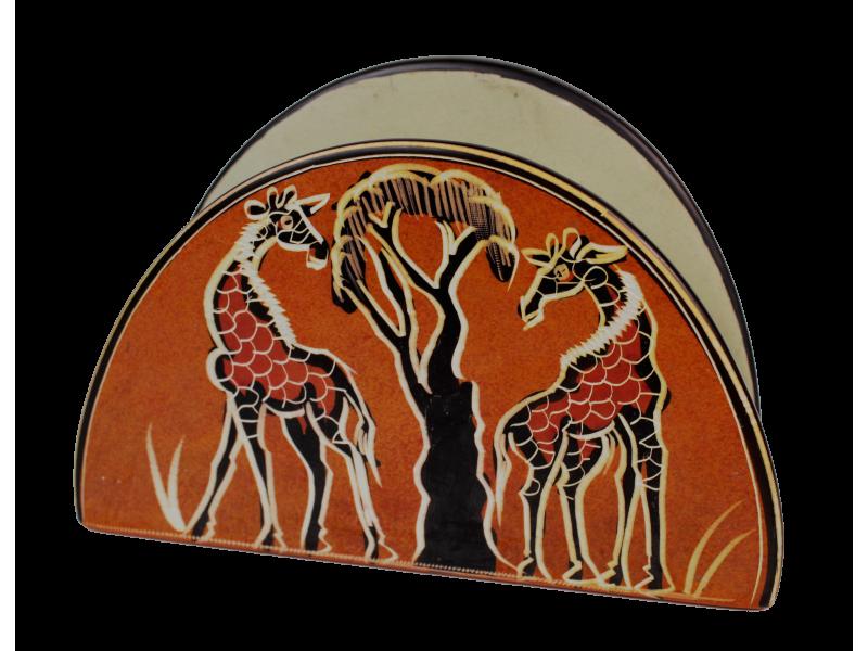 Stojan na ubrousky, materiál – barvený kámen mastek, Keňa