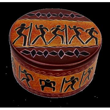 Kámen mastek – šperkovnice kulatá
