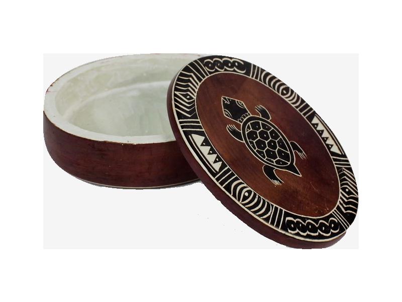 Kámen mastek – šperkovnice ovální, placaté víčko