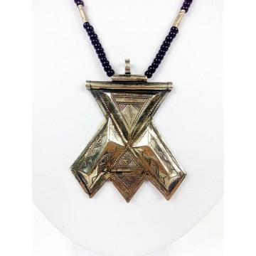 Tradiční tuarežský náhrdelník Humaisa - ruka Fatimy