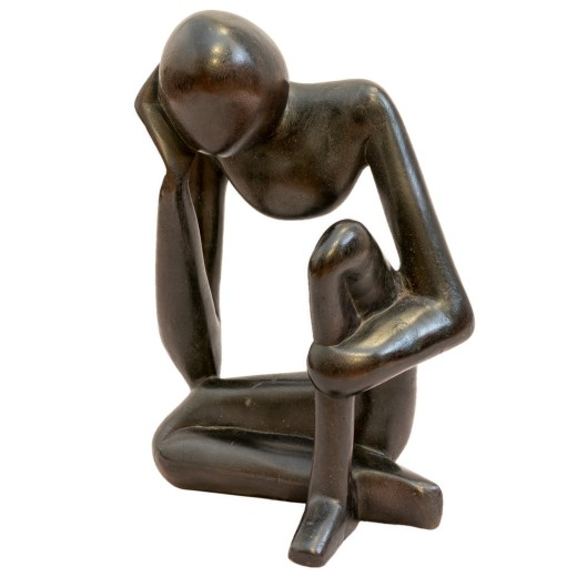 Přemýšlejíci člověk-socha   M PŘIPRAVUJEME PRO VÁS ... Y