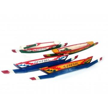 Člun rybářský - malované dřevo