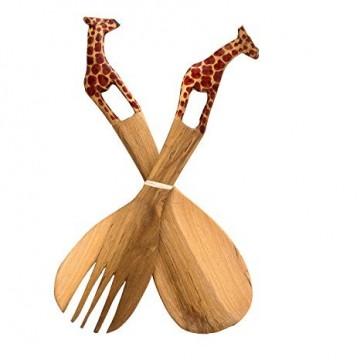 Servírovací set tropické dřevo - zvířátka