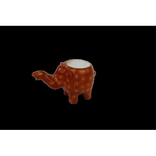 Svícen - čajovka, slon, mastek
