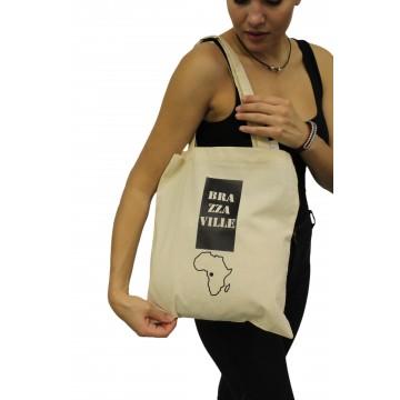 """Nákupní taška """"My african city"""" - bílá"""