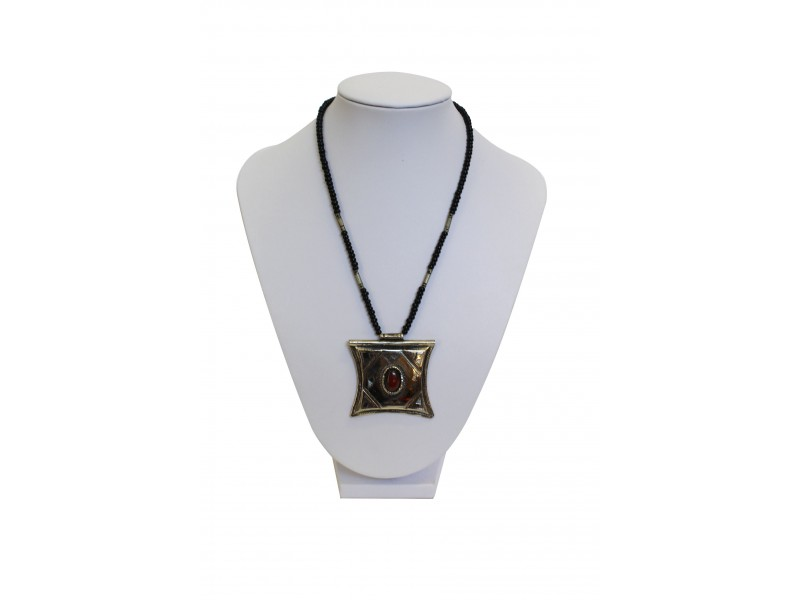 Tuarežský náhrdelník Tsehoty s polodrahokamy