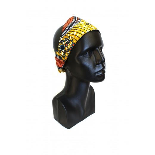 Čelenka z africké bavlněné látky
