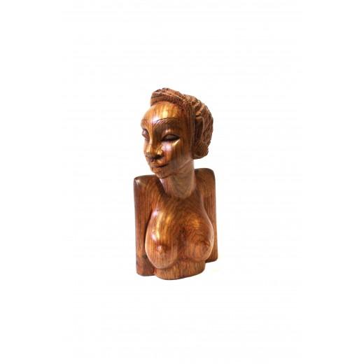 Dřevěná soška - ženská busta