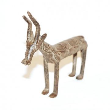 Africká bronzová soška, antilopa od kmene Bobo Fing