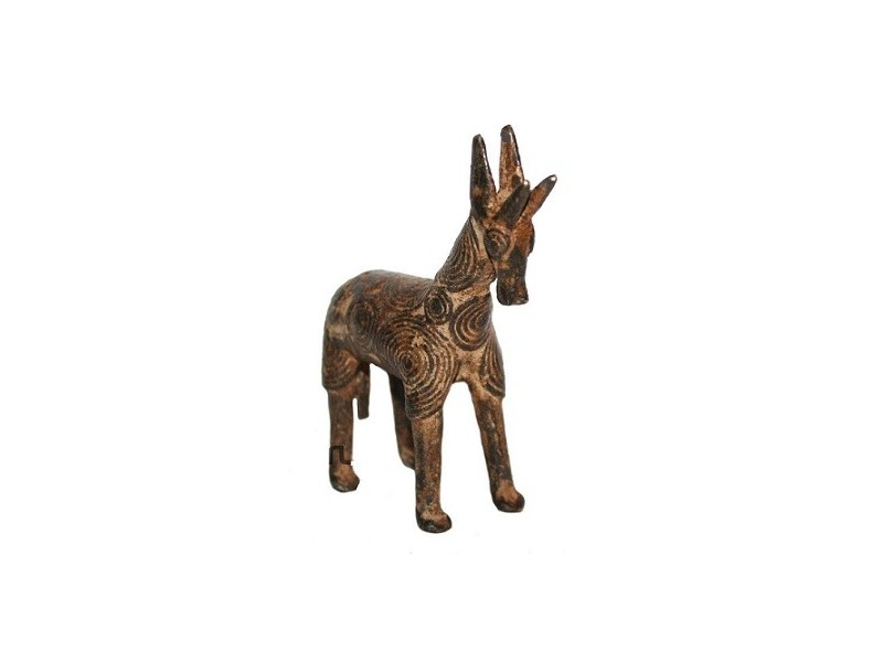 Africká bronzová soška, žirafa od kmene Bobo Fing