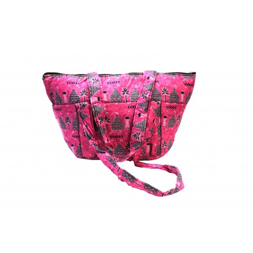 Módní a nákupní taška z africké bavlněné látky