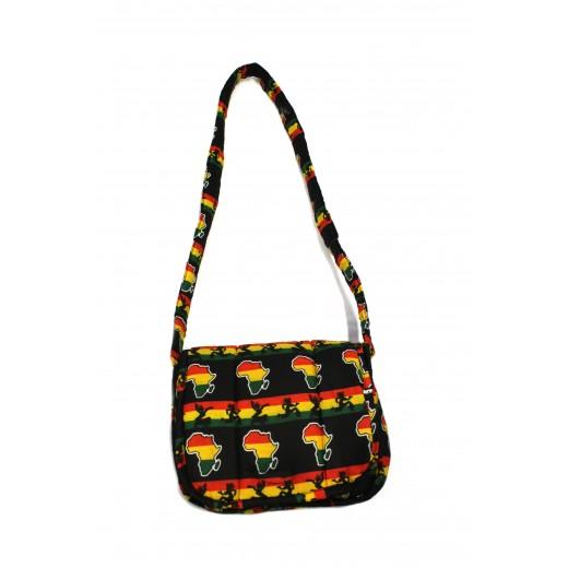 Členitá taška z africké bavlněné látky