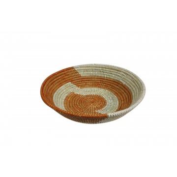 africký košík - ošatka z pletených palmových listů