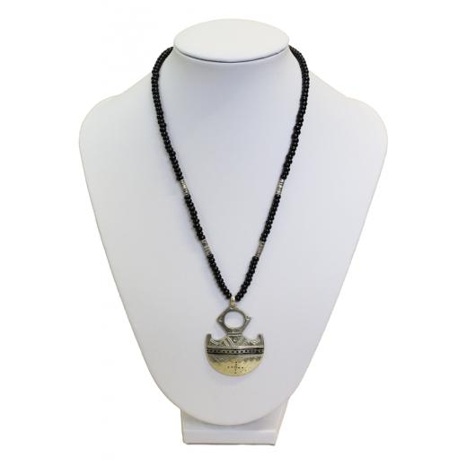Tuarežský náhrdelník s křížem Bagazen