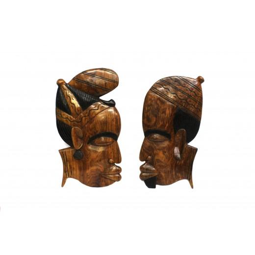 Závěsná dřevěná maska