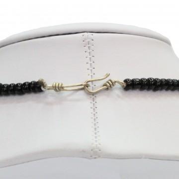 Náhrdelník - skleněné, rokajlové a kovové korálky