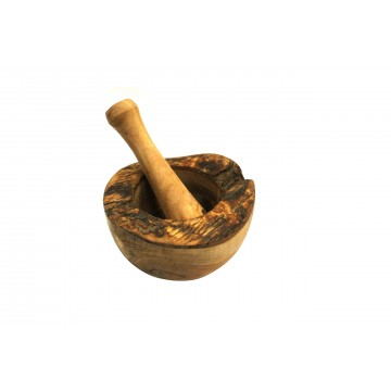 Rustikální hmoždíř z olivového dřeva