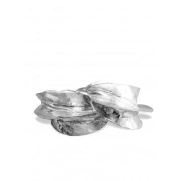 Postříbřené náušnice Fulani, průměr 4 cm