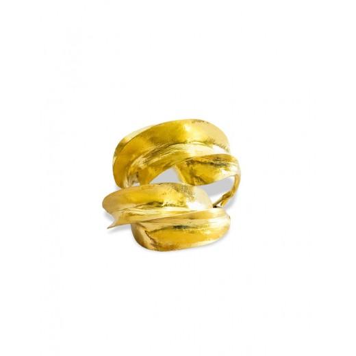 Bronzové náušnice Fulani, průměr 4cm