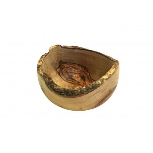 Rustikální mísa z olivového dřeva 19 - 20 cm