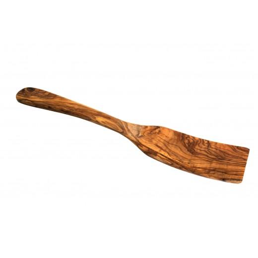Špachtle z olivového dřeva 30 x 6 cm