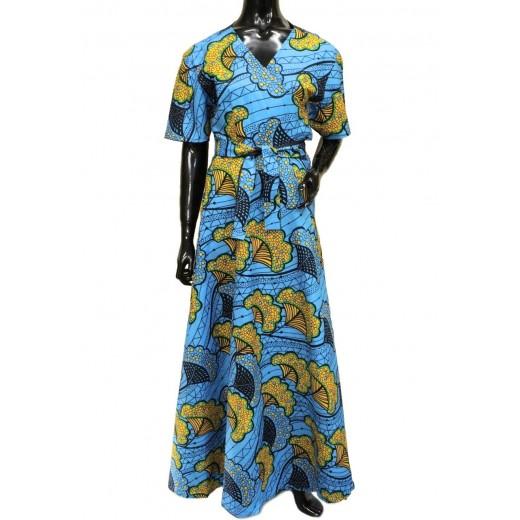 Zavinovací maxi šaty Wolof