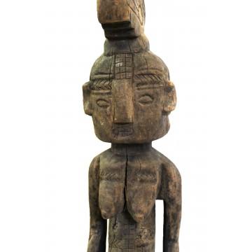 Dřevěná soška se skarifikací - Nigérie