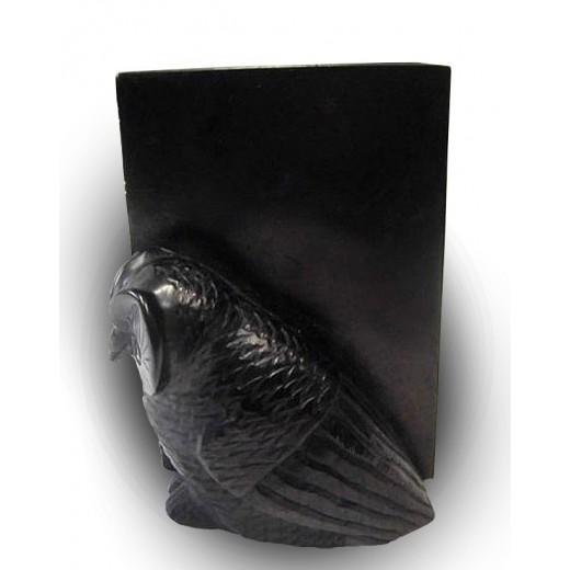 Držák sova na knihy z mýdlového kamene