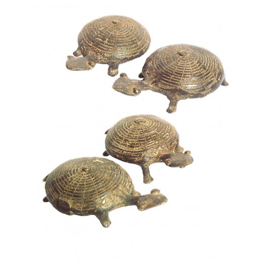 Africká bronzová soška, želva od kmene Bobo Fing