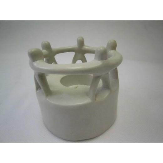 Stojan jednota 5 na svíčku z mýdlového kamene