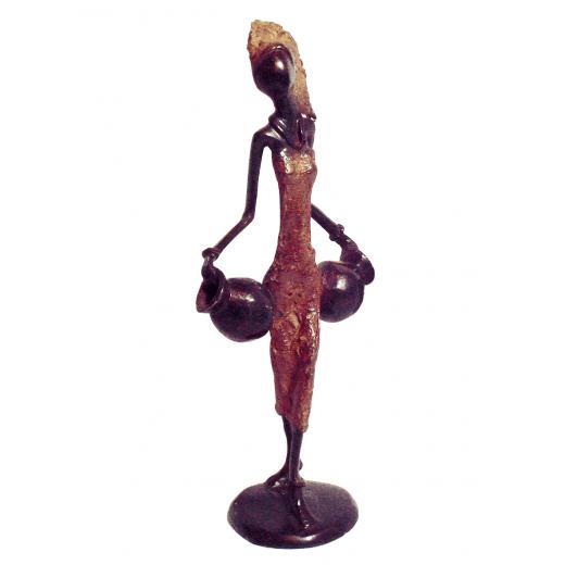 Bronzová soška - žena se dvěma džbány