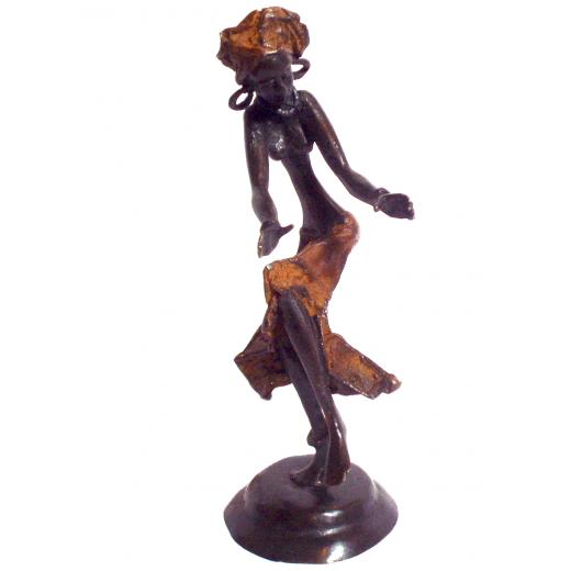 Bronzová soška - tančící žena