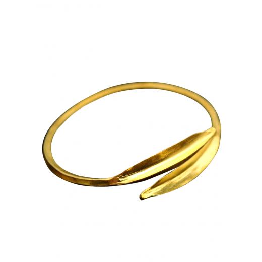 Bronzový náramek Fulani -lístky PŘIPRAVUJEME-MOMENTÁLNĚ NEPRODEJNÝ