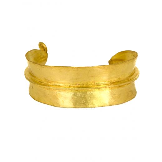 Bronzový náramek Fulani, průměr 3-3,5 cm