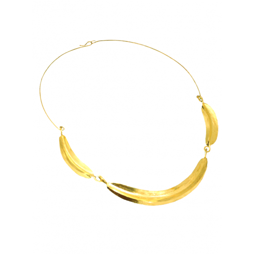 Bronzový náhrdelník Fulani -3 lístky PŘIPRAVUJEME-MOMENTÁLNĚ NEPRODEJNÝ