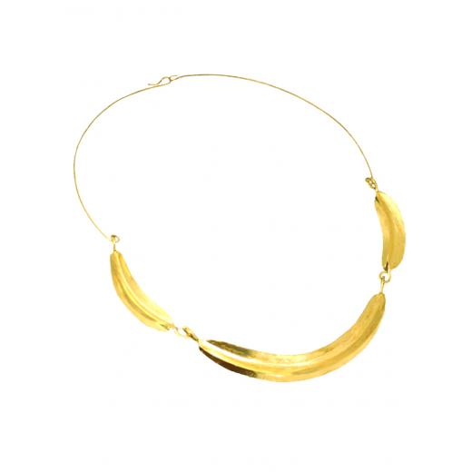 Bronzový náhrdelník Fulani - 3 lístky