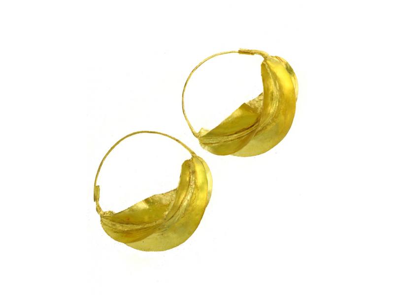 Bronzové náušnice Fulani, 2 cm