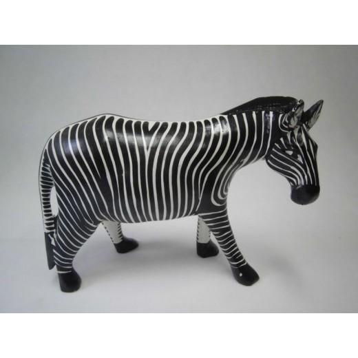 Zebra ze dřeva