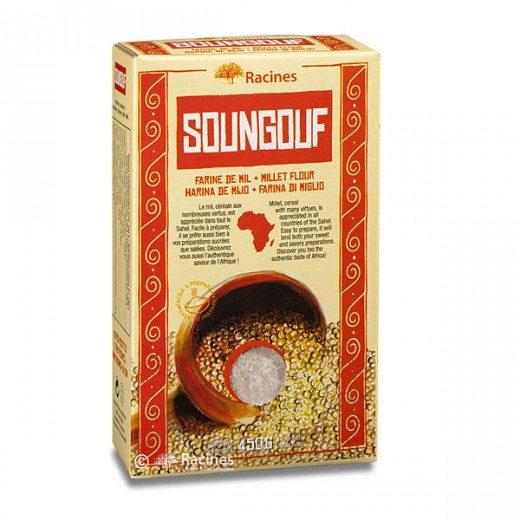 Bezlep. a celozrnná čiroková mouka - Soungouf, 450 g