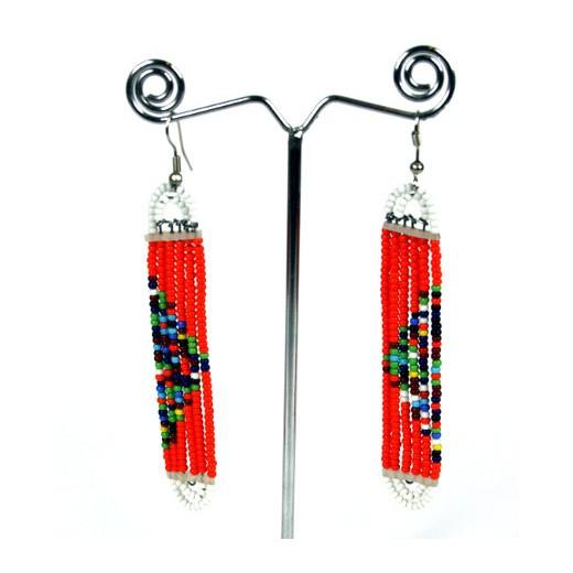 Náušnice Masai dlouhé